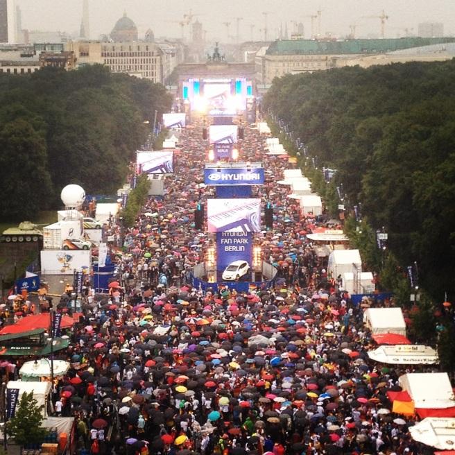 My 200,000 closest German friends as seen from the Ferris Wheel.
