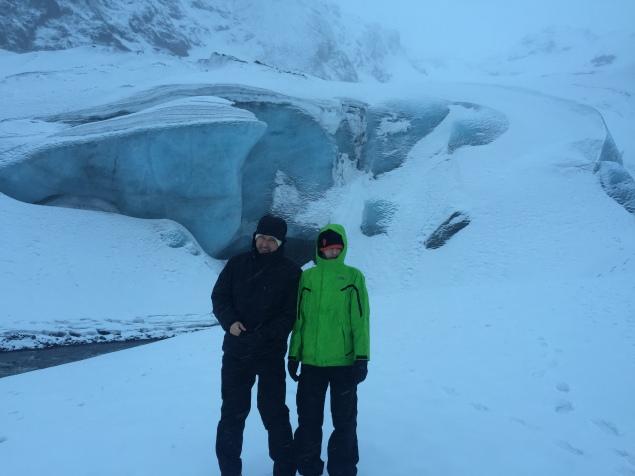 The glacier at Eyjafjallajokull.